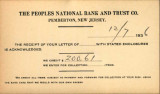 Buzby's General Store Collection: The Peoples National Bank and Trust Company Postcard December 7, 1936